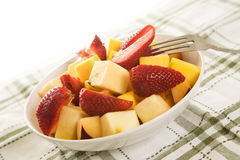 Fruit bowl. A shot of a fruit bowl on a table Stock Photo