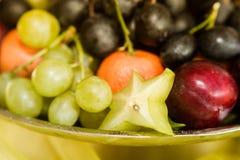 Fruit bowl in closeup Stock Photo
