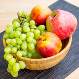 Fruit bowl with  fruits Stock Images