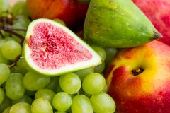 Fruit bowl with  fruits Stock Image
