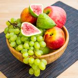 Fruit bowl with  fruits Royalty Free Stock Image