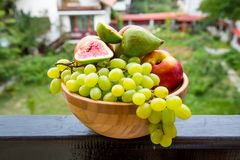 Fruit bowl with  fruits Royalty Free Stock Photo