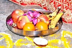 Fruit Bowl in Hindu Tamil Wedding royalty free stock photo