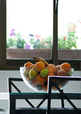 Fruit bowl in the kitchen royalty free stock image