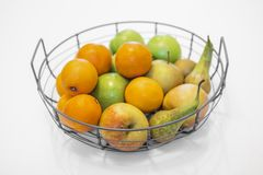 .fruit bowl with mixed fruits royalty free stock photography