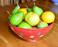 Fruit in a bowl Stock Photos