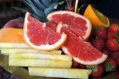 Fruit bowl of various kinds Stock Photo