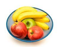 Fruit bowl on white Royalty Free Stock Photography