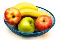 Fruit bowl on white Stock Photo