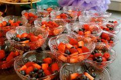 Fruit Bowls. Eat and enjoy the pretty fruit bowls Royalty Free Stock Image