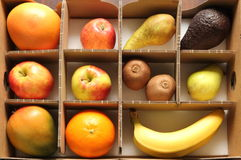 Fruit box. In a cardboard box Stock Image