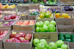 Fruit in boxes. Different kind of fruit in the carton boxes Royalty Free Stock Photography