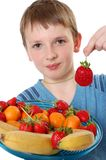 Fruit boy Stock Photography