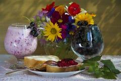 Fruit breakfast Stock Photos