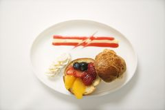 Fruit brioche. Royalty Free Stock Images