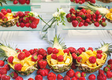 Fruit Buffet. Closeup Fruit Buffet in a restaurant Royalty Free Stock Photo