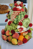 Fruit buffet platter Stock Image