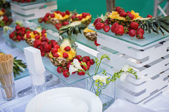 Fruit Buffet. In a restaurant Royalty Free Stock Photography