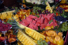 Fruit on a buffet table Royalty Free Stock Photography