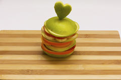 Fruit burger on cutting board Royalty Free Stock Photos