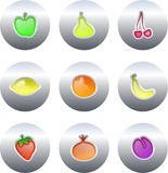 Fruit buttons Stock Images