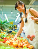 Fruit buying scene Stock Photo