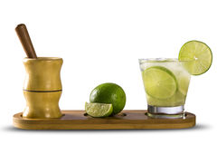 Fruit Caipirinha de citron du Brésil sur le fond blanc Photographie stock