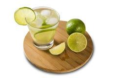 Fruit Caipirinha de citron du Brésil sur le fond blanc Photo stock
