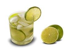Fruit Caipirinha de citron du Brésil sur le fond blanc Photographie stock libre de droits