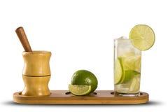 Fruit Caipirinha de citron du Brésil sur le fond blanc Image libre de droits