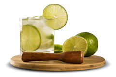 Fruit Caipirinha de citron du Brésil sur le fond blanc Photo libre de droits