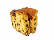 Fruit cake. Golden fruit cake stock image