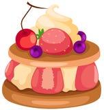 Fruit cake. Illustration of isolated fruit cake on white background Royalty Free Stock Photography