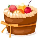 Fruit cake. Illustration of isolated fruit cake on white background Stock Photography