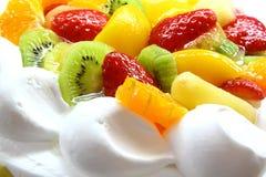Fruit cake. With kiwi,strawberry and orange Royalty Free Stock Image
