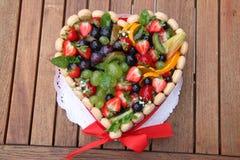 Fruit cake royalty free stock photography