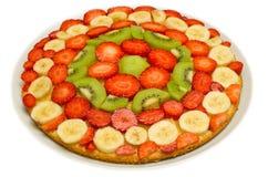 Fruit Cake. Cake made with slices of fresh fruit Royalty Free Stock Photos