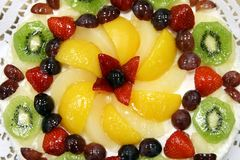 Fruit cake. With fruit and berries Royalty Free Stock Photos