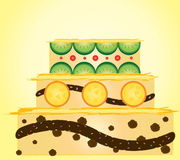 Fruit cake. This is cake for all celebration.Vector is eps10 Stock Image