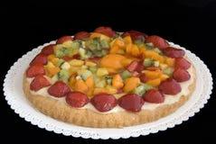 Fruit cake. Isolated on black Stock Photos