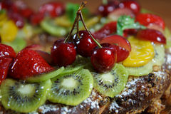 Fruit on a cake Stock Image