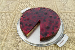 Fruit cake with berries Stock Photo