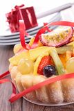 Fruit cake and berry Stock Photography