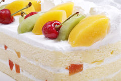 Fruit cake close-up Stock Image