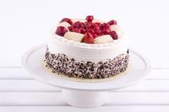 Fruit cake with cream Stock Photo