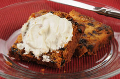 Fruit cake with cream cheese Royalty Free Stock Images