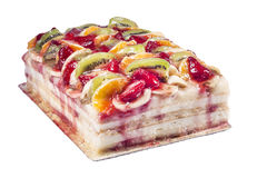 Fruit cake dessert stock photography