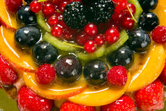 Fruit cake, detail Stock Images