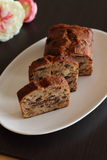 Fruit cake. Fruitcake made with dried fruits, nuts and spices Royalty Free Stock Images