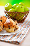 Fruit-cake,green Apple Stock Photos